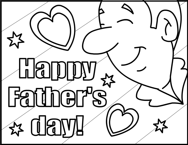 Beautiful Smile On Father's Day coloring picture for kids