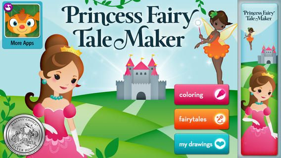 Princess Fairy Tale Maker iPad app that enables kids to