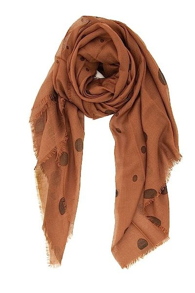 Cocoa Combo Modal and Cashmere Polka Dot Scarf
