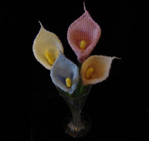 Free Flower Knitting Patterns Knit Flowers Pinterest Knitting