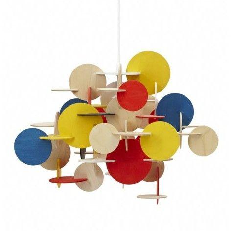 Bau pendant light, large, coloured