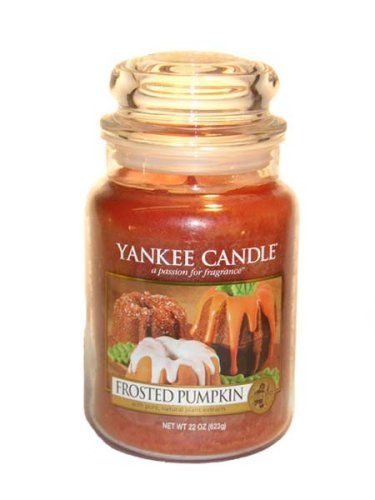 frosted pumpkin yankee candle possibly the best smelling. Black Bedroom Furniture Sets. Home Design Ideas