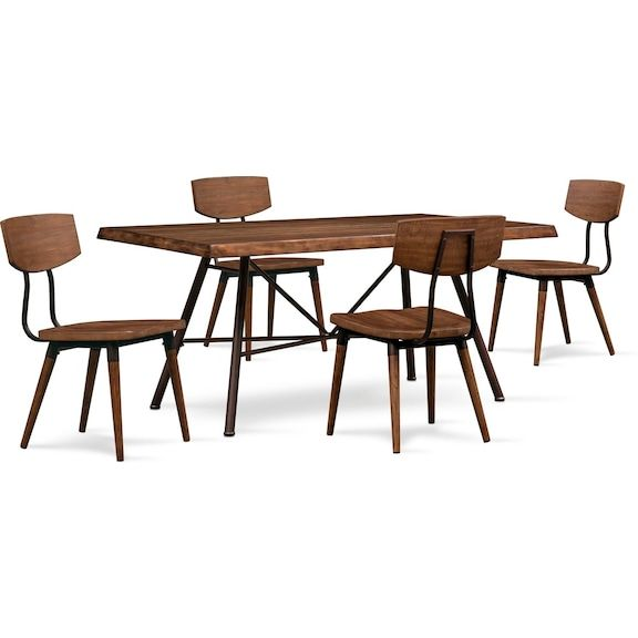 Magnificent Bodhi Dining Table And 4 Side Chairs Rustic Pine Value Bralicious Painted Fabric Chair Ideas Braliciousco