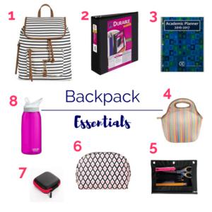 Organized Clean Backpack