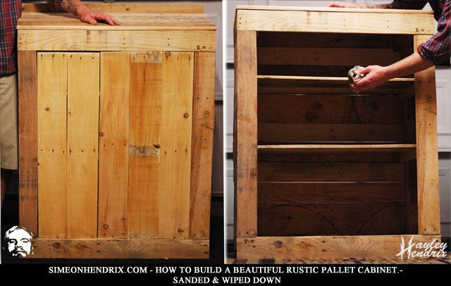 How to build a beautiful rustic pallet cabinet for Making cabinets out of pallets