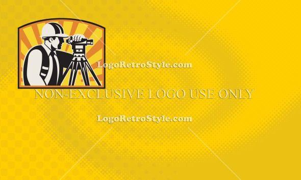 Surveyor Civil Engineer Business Card Design Template Logo