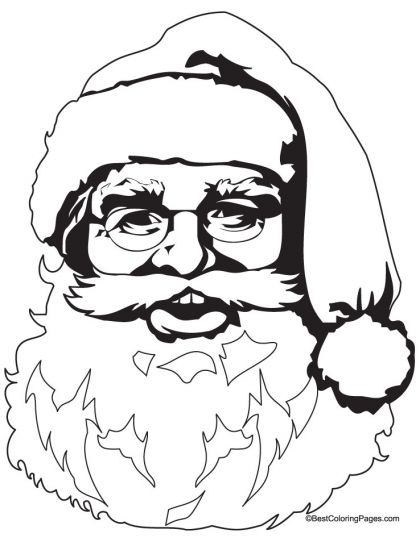 happy santa clause head coloring page download free happy santa clause head coloring page for kids best coloring pages