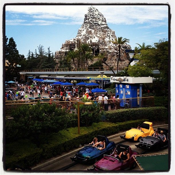 Disneyland Autopia And Matterhorn...I was there! :)