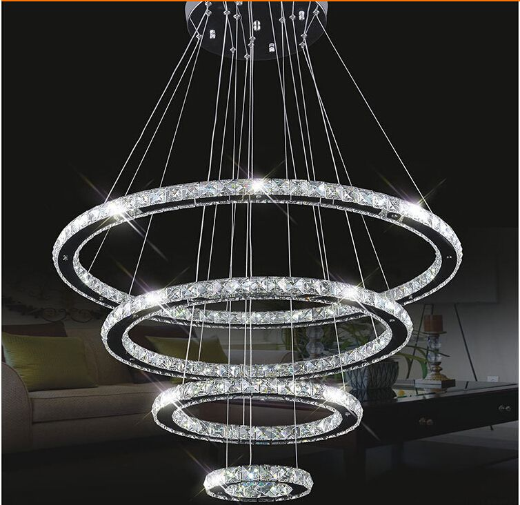Aliexpress Com Buy Modern Stainless Steel With Mirror Finish Ceiling Lamp Crystal Led Chandel Modern Crystal Light Crystal Chandelier Lighting Led Chandelier