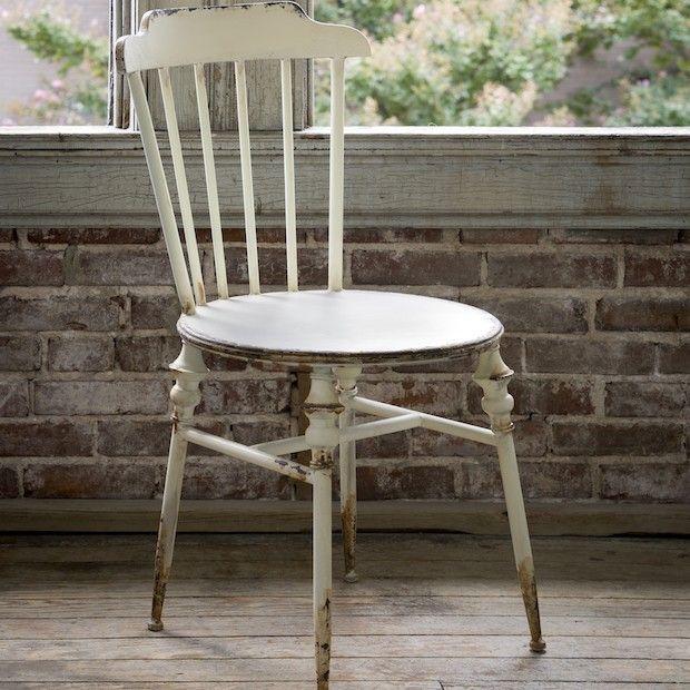 Buttermilk Cottage Chair, Set of 2 - Buttermilk Cottage Chair, Set Of 2 Industrial Metal, Vintage