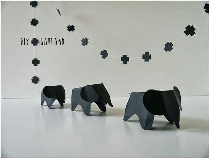 DIY: Eames Elephants Garland! | Art And Chic