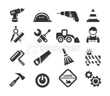 construction icon set | Construction icons | Pinterest | Best Icon ...