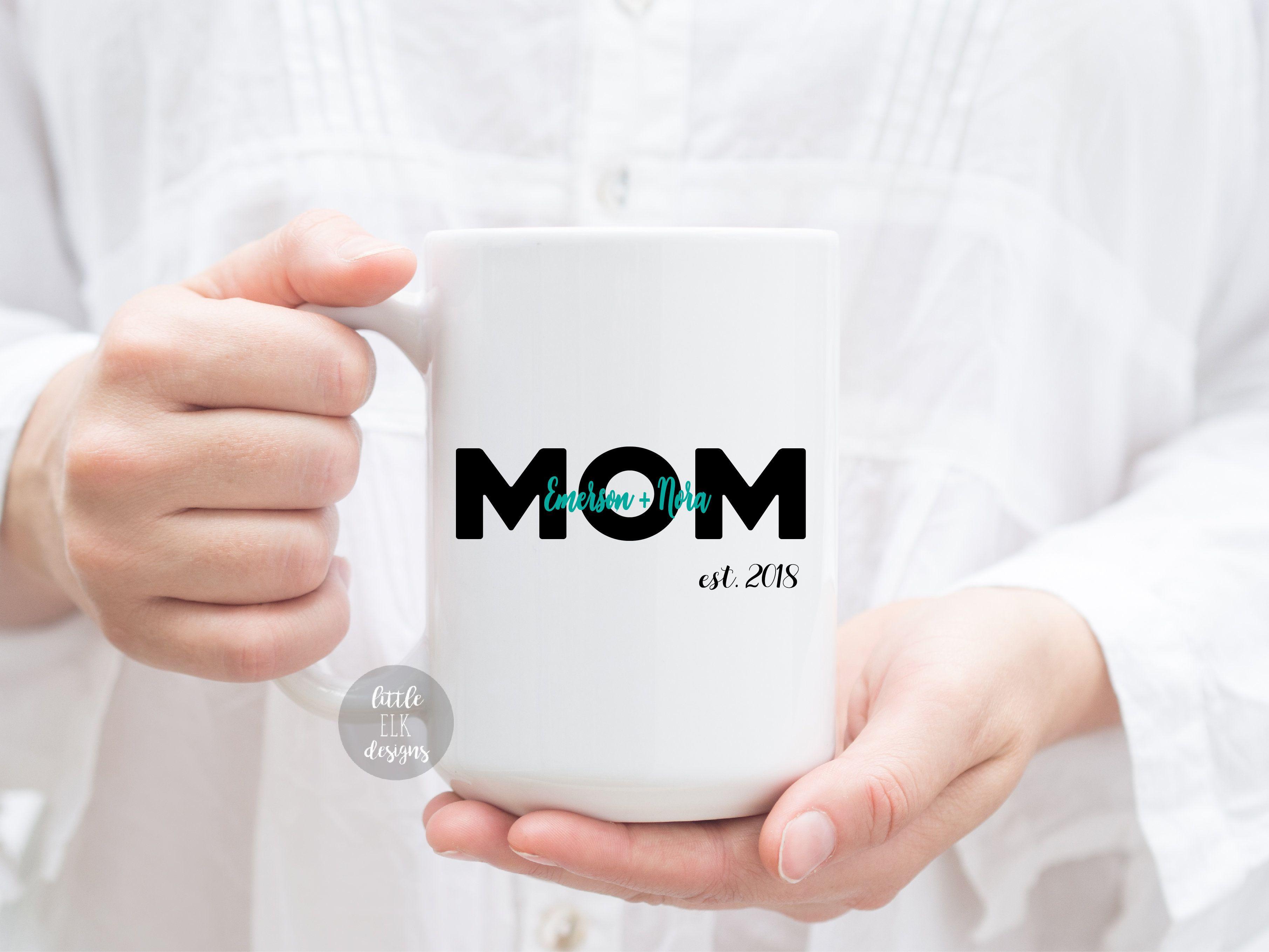 Custom Mom Mug With Children S Name On Mug Gift Mom Mug