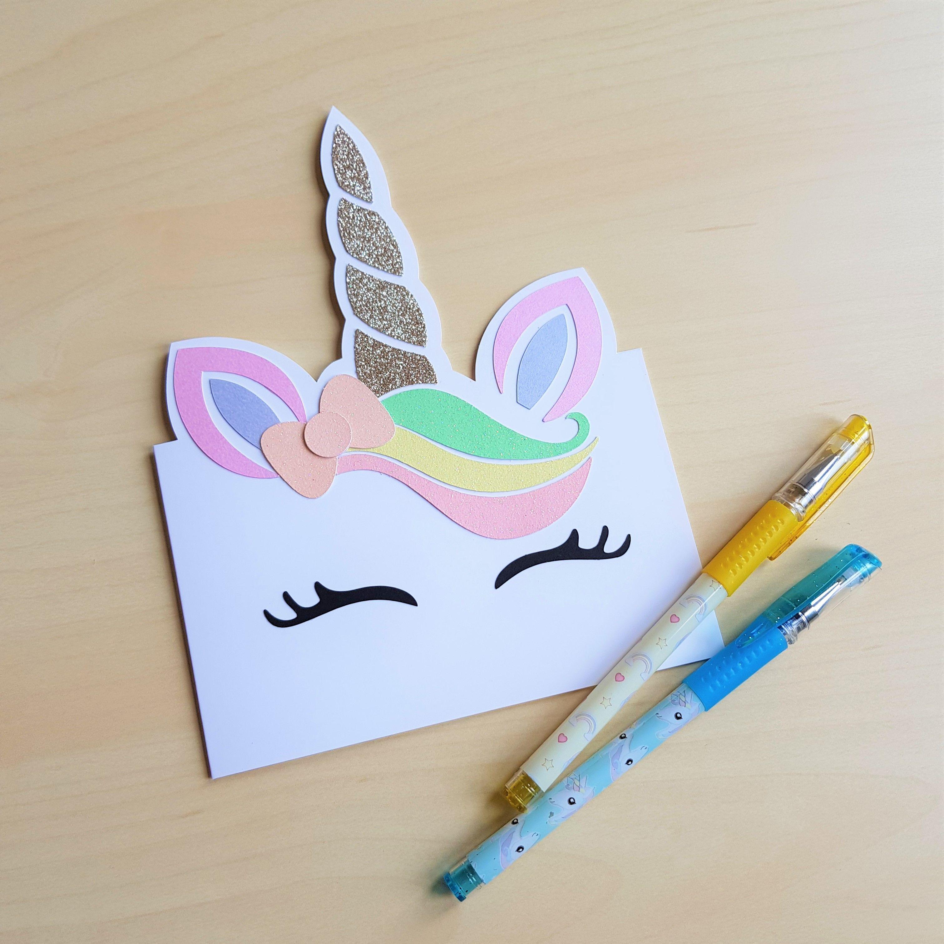 cute sparkly unicorn birthday card handmademiss