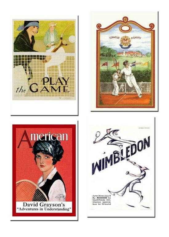 vintage tennis posters