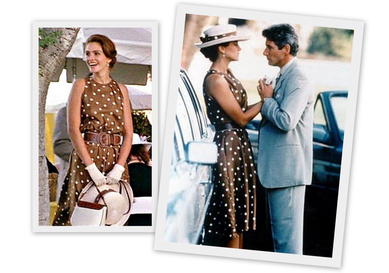 acfbbca59916 Julia Roberts y su vestido de lunares, en Pretty Woman   Dresses! <3 ...