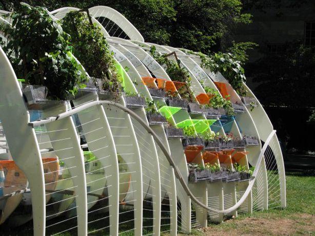 futuristic greenhouse of miniature cold by jenny sabin