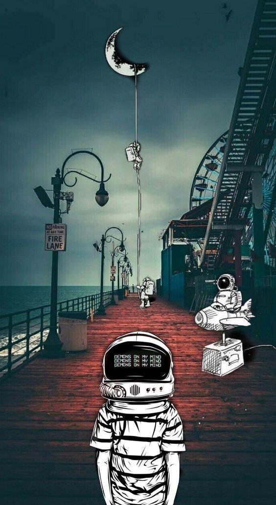 Humpday Dumpday Iphone Wallpaper Photography Astronaut Wallpaper Astronaut Art