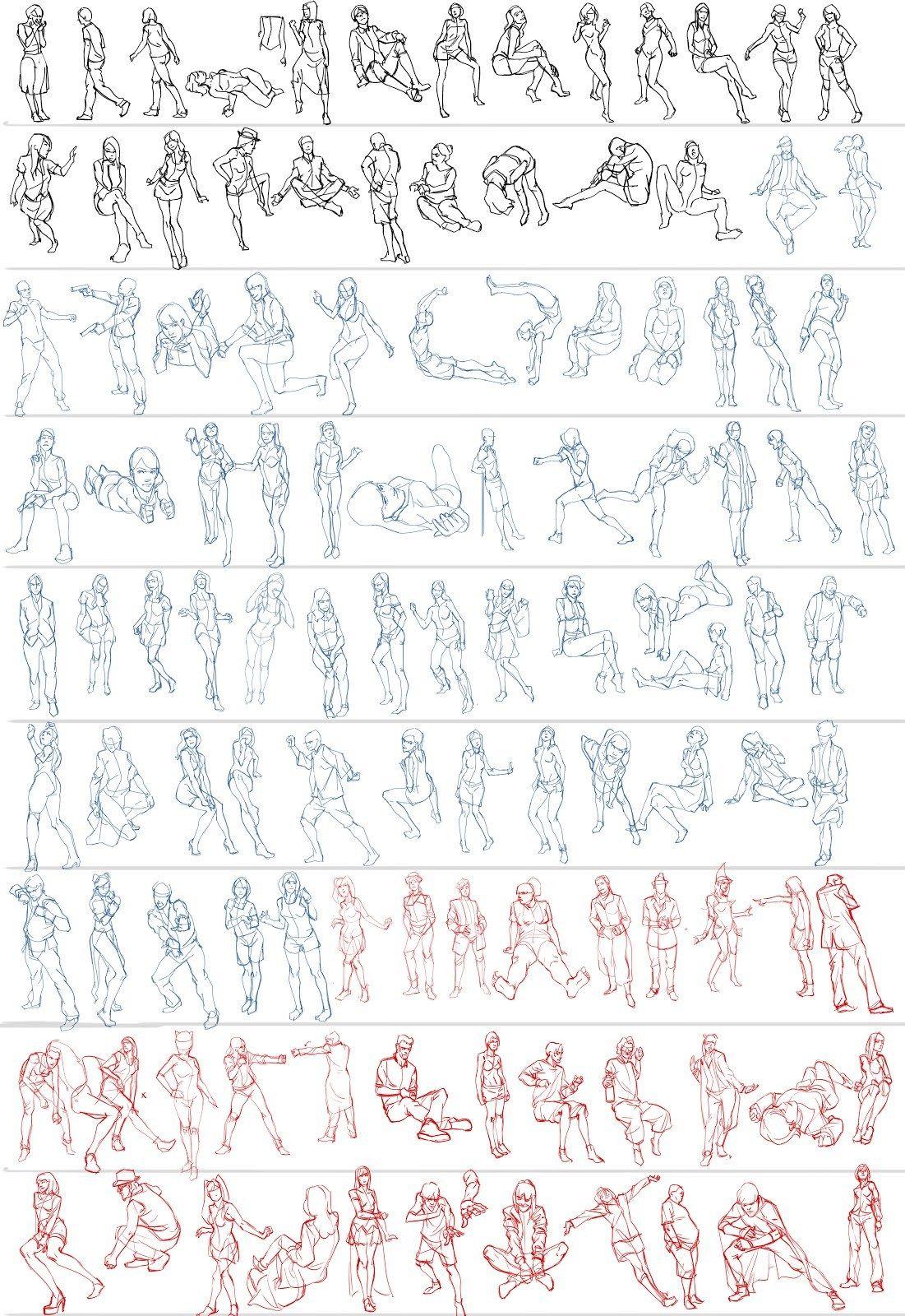 Art Tutorials & References — anatoref Gesture Studies, by Ben Li ...