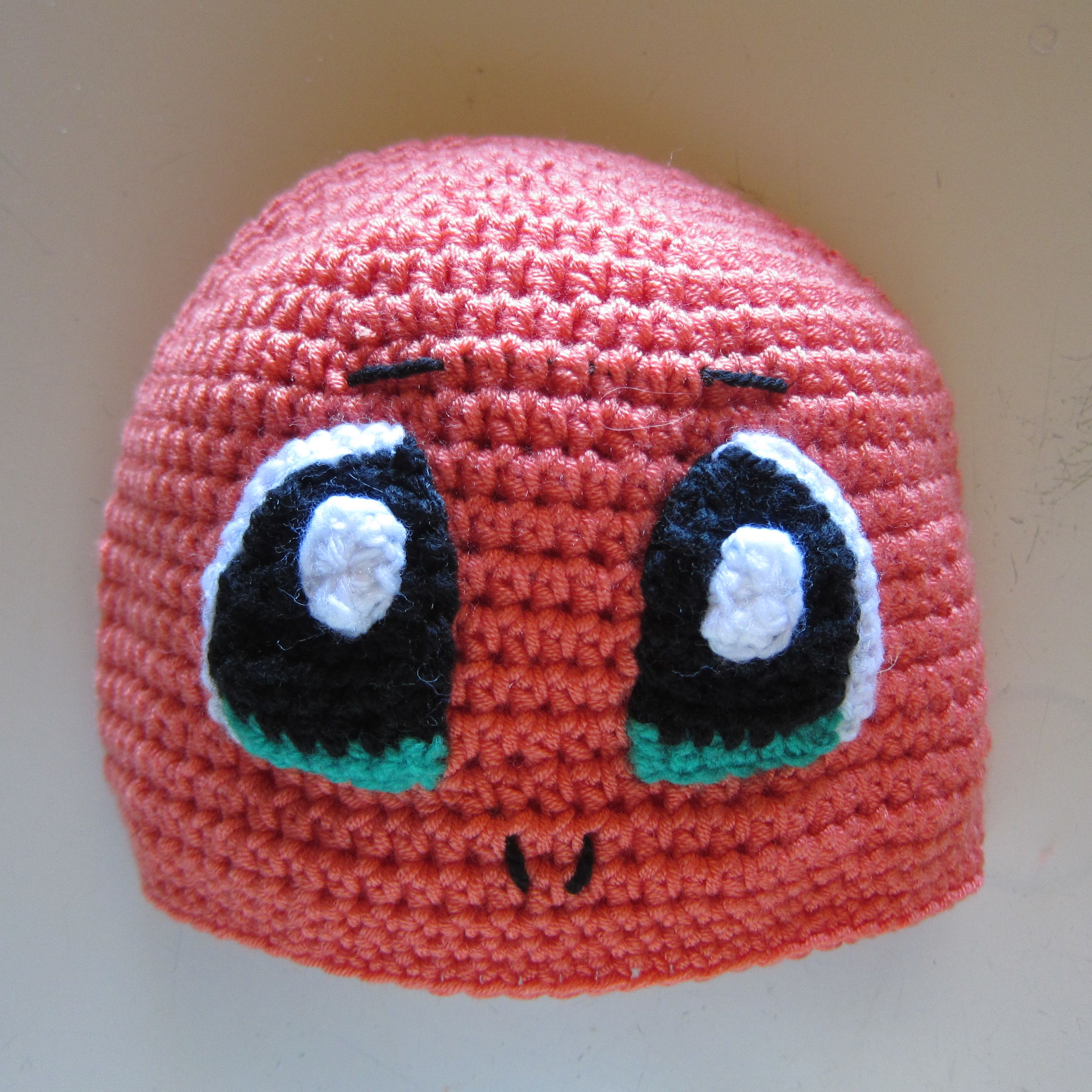 Crocheted Charmander Hat Pokémon Character No Pattern Stuff