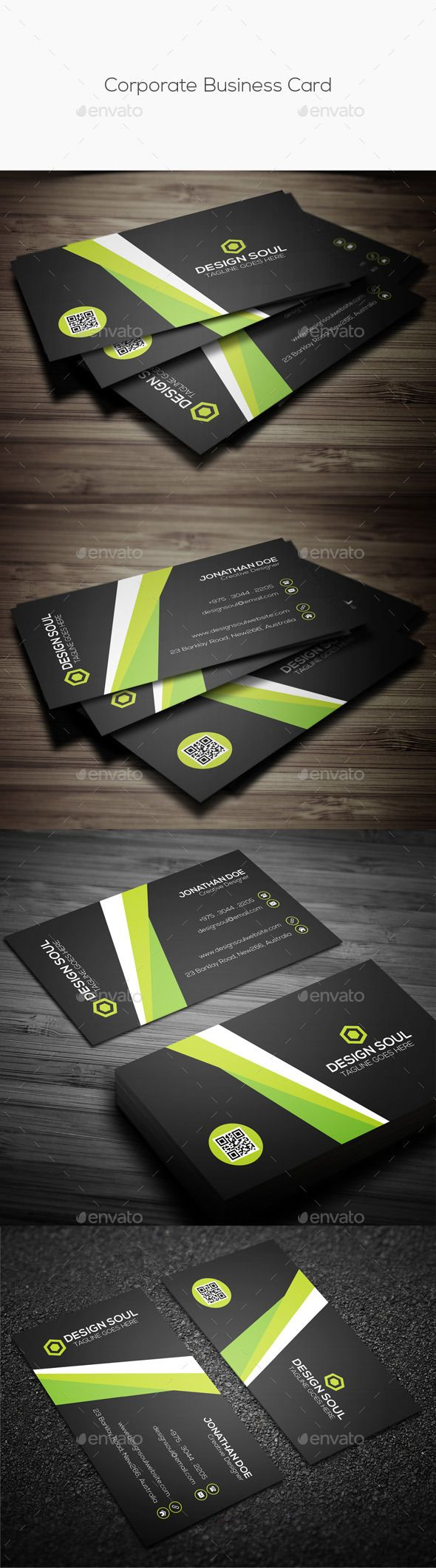 Corporate Business Card Template Design Download Http Graphicriver Net Item Corporate Business Corporate Business Card Business Cards Business Card Design
