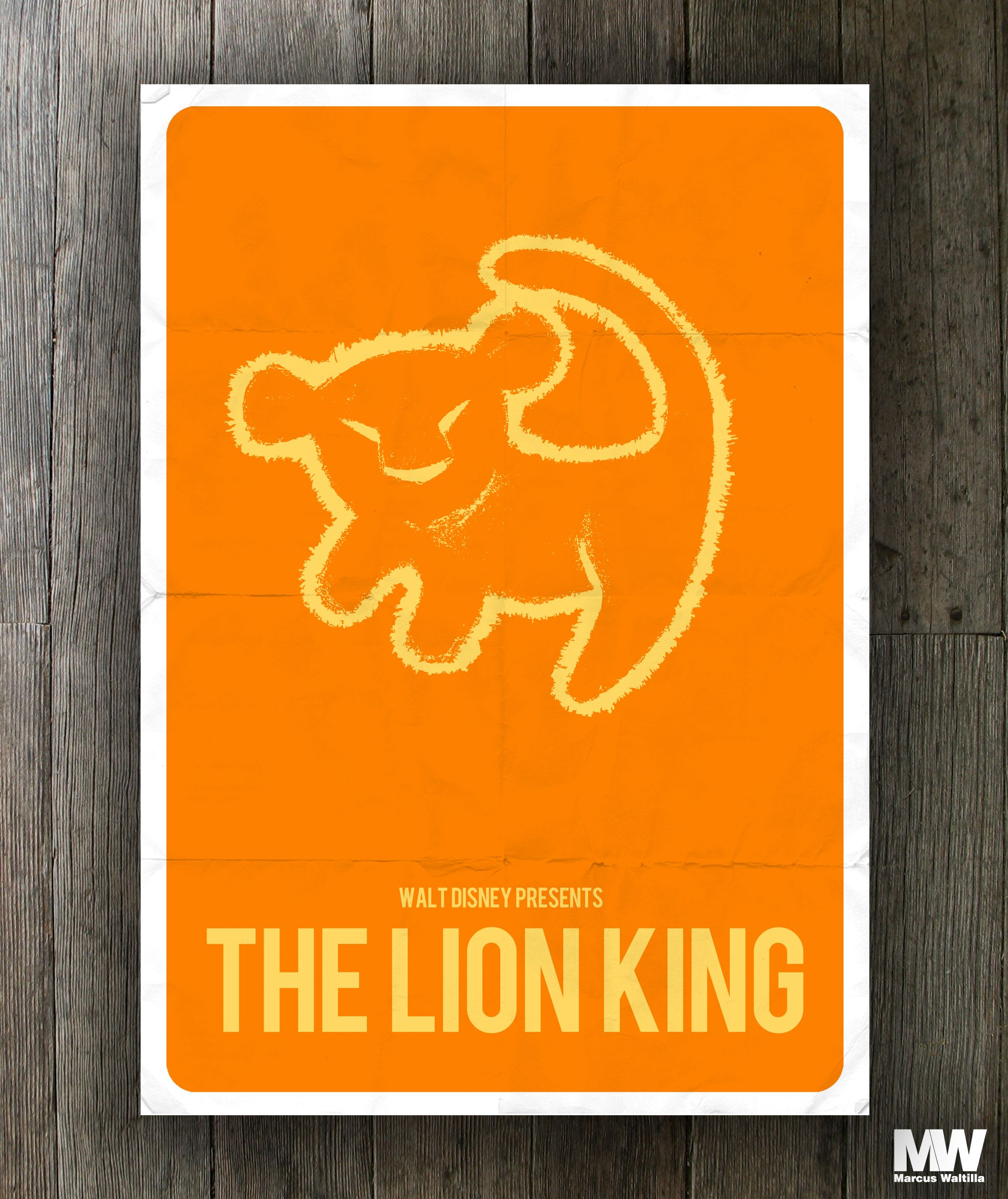 the lion king  minimalistic poster art  disney  design  movie  poster