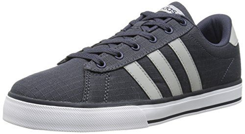 premium selection b9dbf 1f28a adidas NEO Men s SE Daily Vulc Lifestyle Skateboarding Shoe,Navy Clear Onix  Grey White,11 M US  Denim upper Rubber toe bumper Leather…