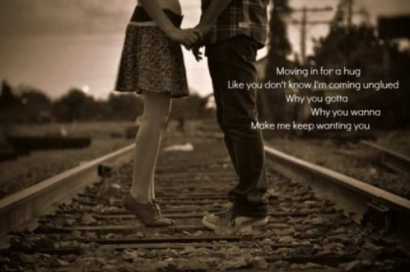 why you wanna make me keep wanting you?.....