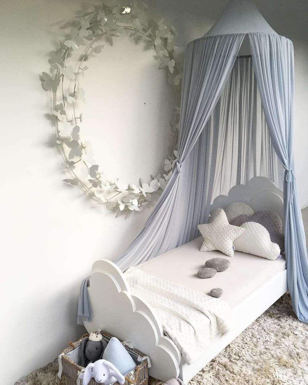 chiffon bed canopy on princess chiffon bed canopy 5 colors kids bed canopy princess canopy bed kid room decor pinterest