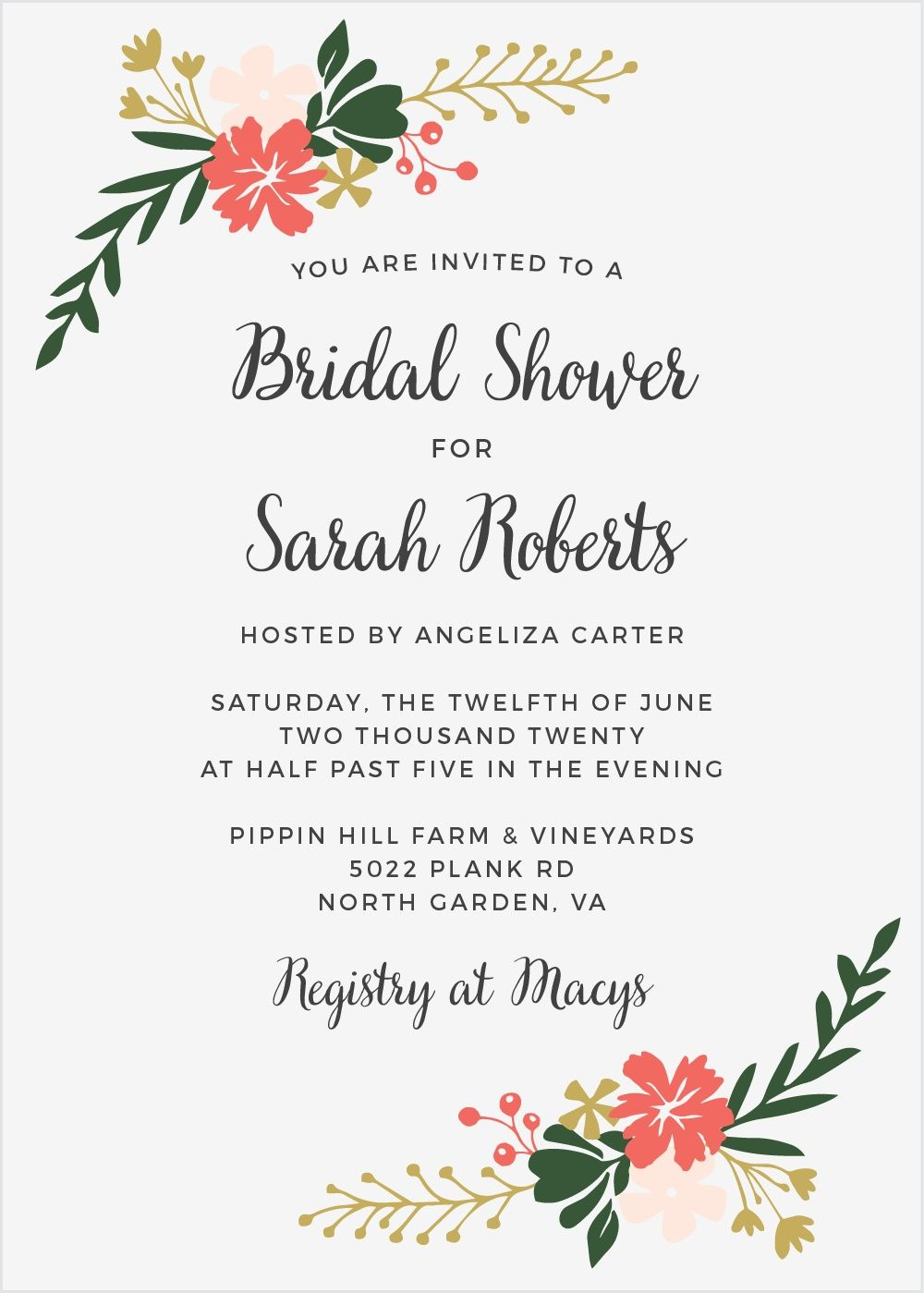 e9869867bbe Garden Party Bridal Shower Invitations