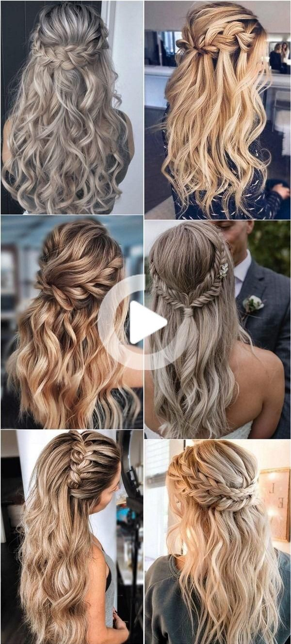 long half up half down braided wedding hairstyles for 2020