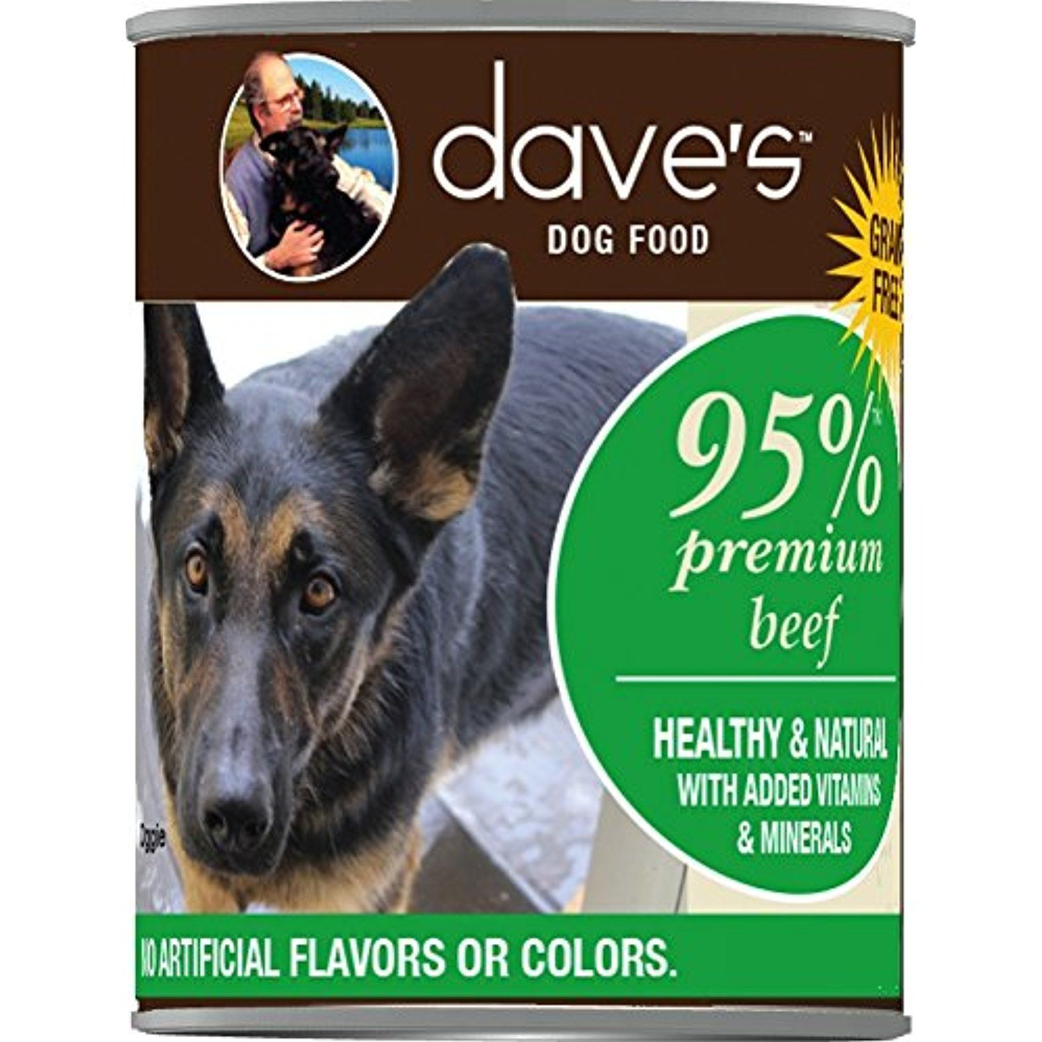 Dave's Premium Beef 95 Meat For Dogs, 13 oz Can (Case of