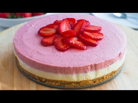 No bake white chocolate mousse cake