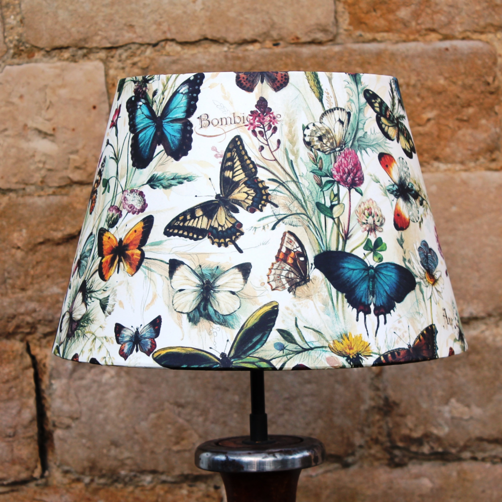 Luxury Lamp Shade Butterflies Hand Drawn French Tapered Light Shade Handmade Lampshades Luxury Lamps Lamp