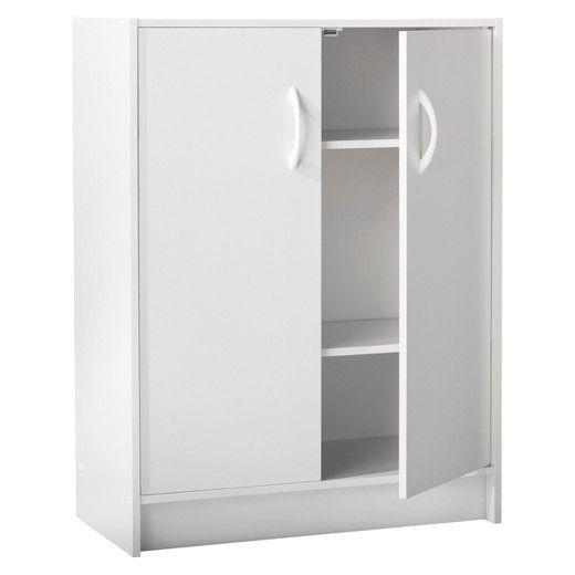 2-Door Stackable Storage Cabinet - White - Room Essentials | Storage cabinets White rooms and Storage  sc 1 st  Pinterest & 2-Door Stackable Storage Cabinet - White - Room Essentials | Storage ...