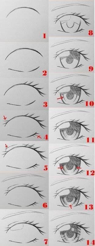 Proyecto Anime Eye Drawing Pencil Art Drawings Eye Drawing
