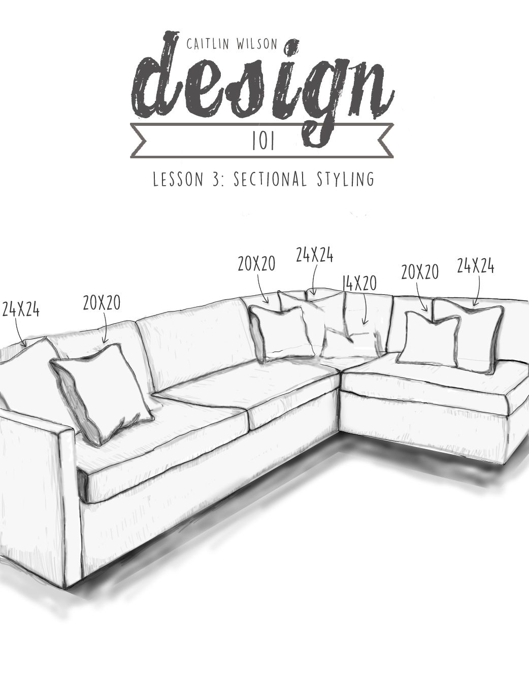 Sectional Drawing Sizes 1 couch Pinterest Style, Middle and Patterns