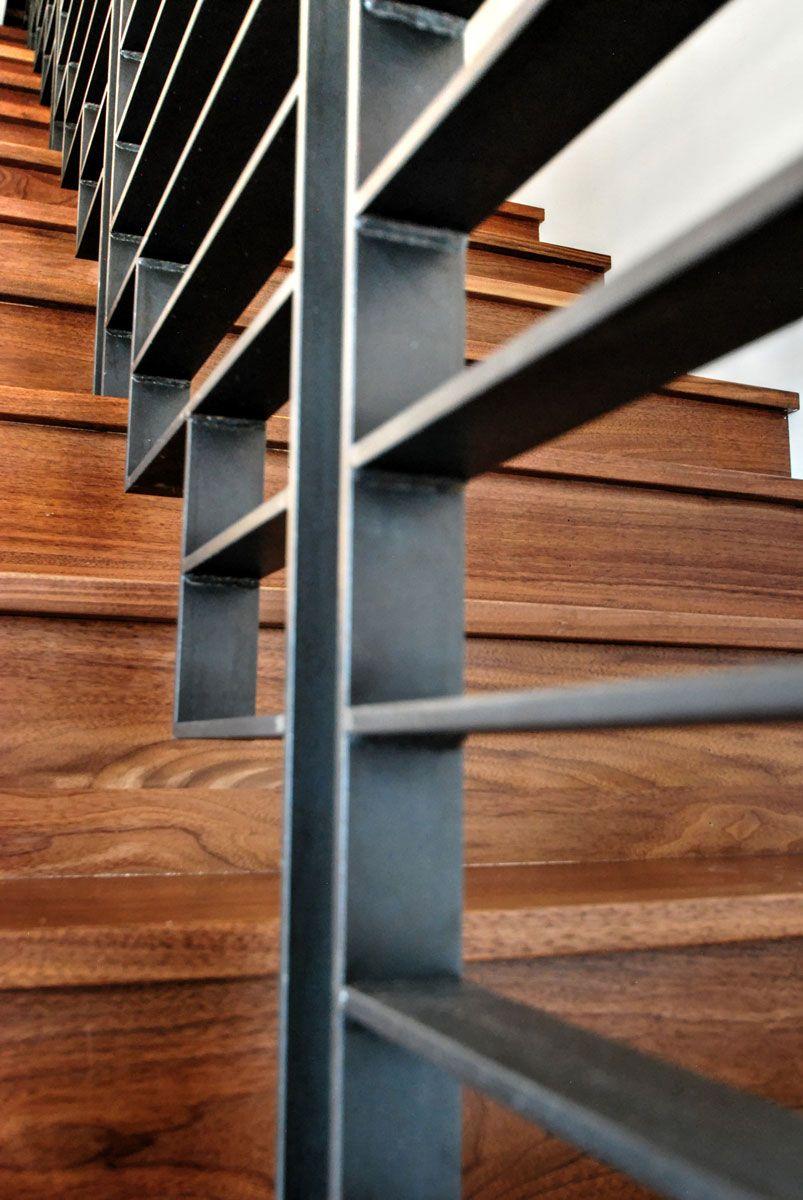 Unique Modern Industrial Stair Railing   Home Design ...