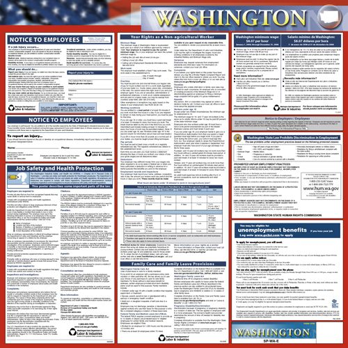 Washington State Only Poster Washington Washington Washington State Labor Law