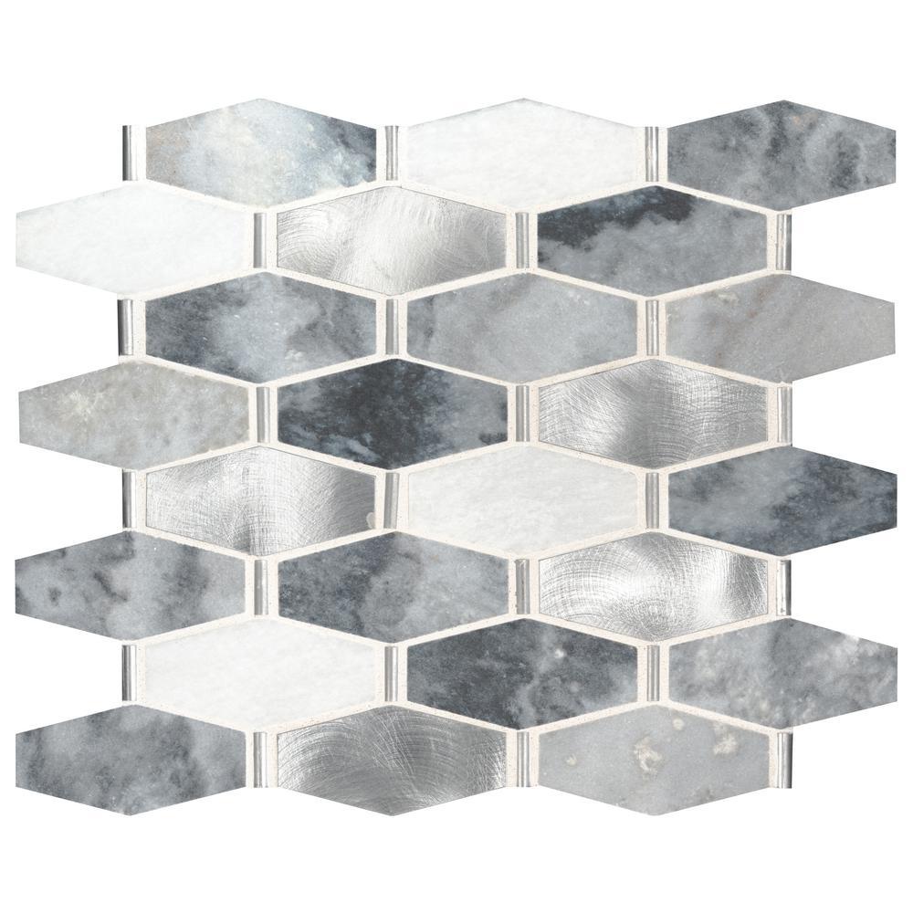 Msi Ankara 13 In X 11 61 In X 6mm Stone Metal Mesh Mounted Mosaic Tile 1 05 Sq Ft Smtl Ankara6mm Mosaic Tiles Metal Mesh Tiles