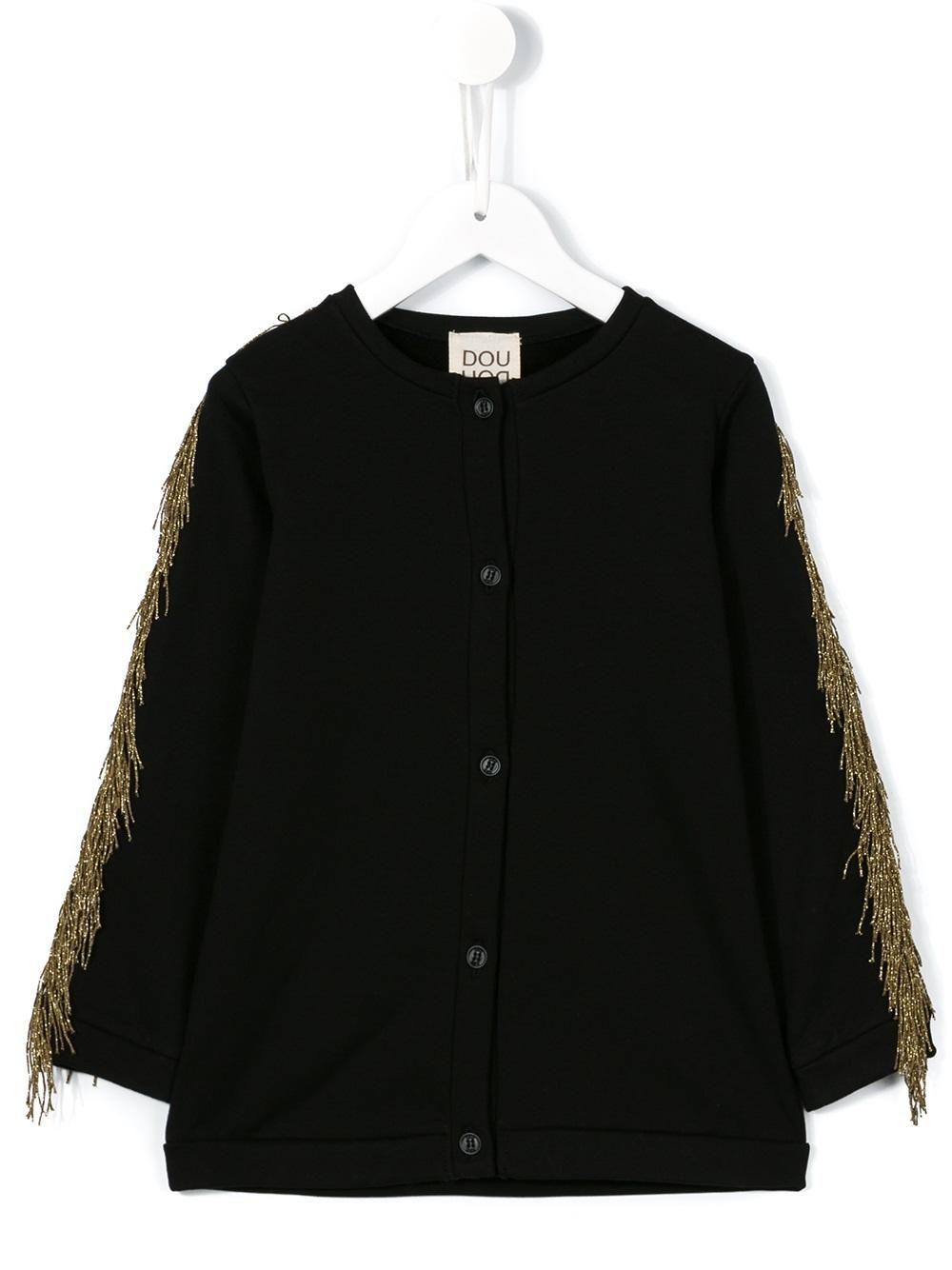 #douuod #kids #fringes #jacket #black #gold #cardigan #style www.jofre.eu