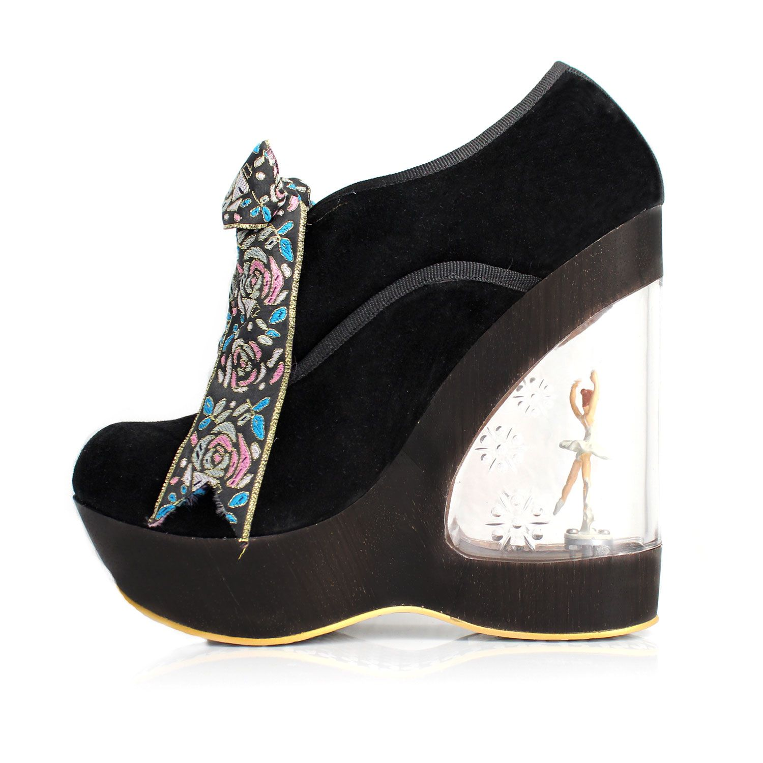 e2b5cc5825 Irregular Choice Glissade Shoe Black, Irregular Choice Womens Ballerina Heel