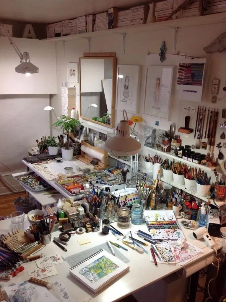 33 Most Popular Craft Room Sewing Decor Ideas Art Studio Room Art Studio Design Art Studio At Home