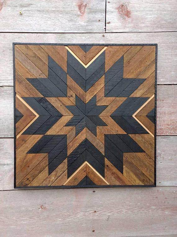 Salvaged wood decor Reclaimed wood art Lath wall art Rustic decor ...