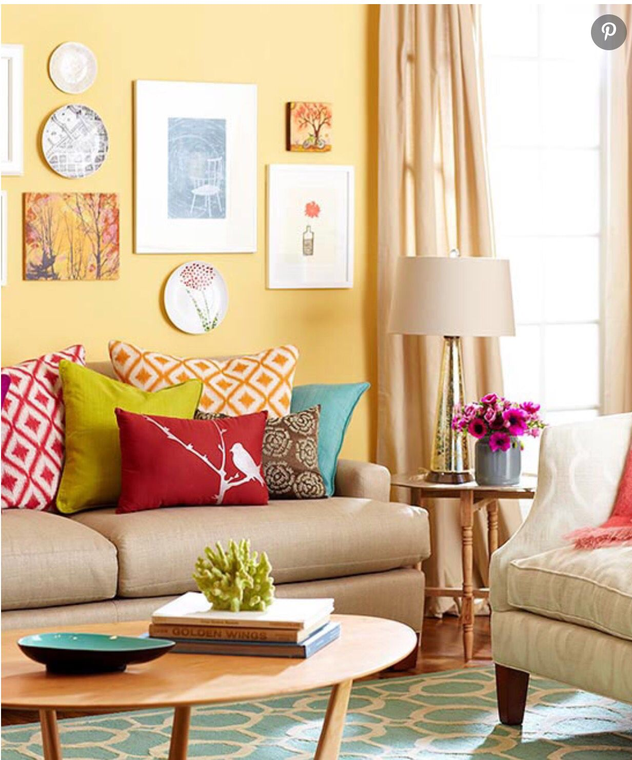 Brights | Casual living rooms, Colorful living room design ...