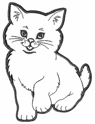 Kitten Outline Embroidery Designs Machine Embroidery Designs At Embroiderydesigns Com Animal Coloring Books Cat Coloring Page Animal Coloring Pages