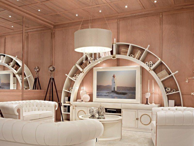Porta Wohnzimmer ~ Wohnzimmer mit weißen mediterranen möbeln eingerichtet ideen