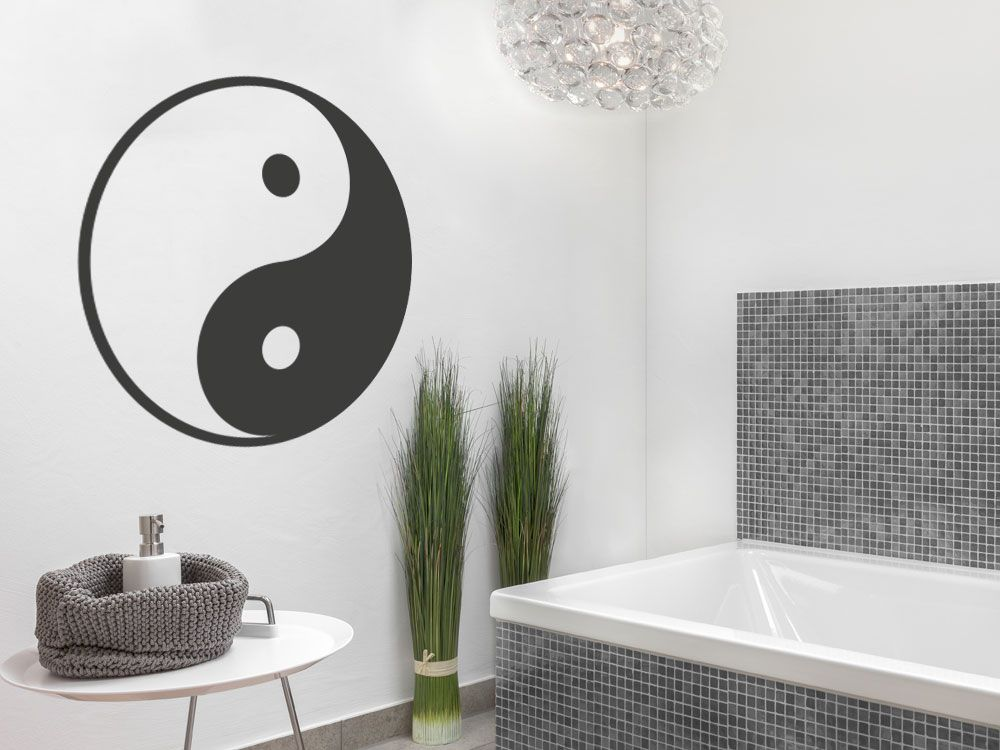 Wandtattoo Yin  Yang Yin yang - Wandtattoos Fürs Badezimmer