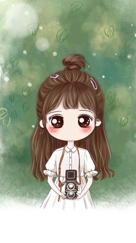 Photography Girl Gambar Karakter Animasi Kartun