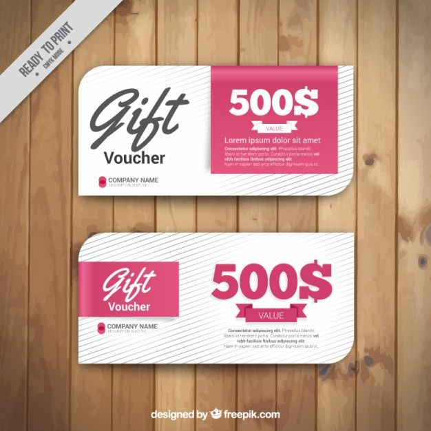 Gift Voucher Template Free Vector Free Resources Pinterest - gift voucher free template